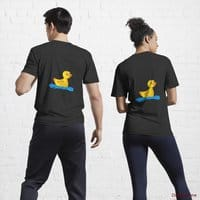 Plastic Duck Black Active T-Shirt (Back printed)