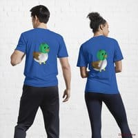 Normal Duck Royal Blue Active T-Shirt (Back printed)