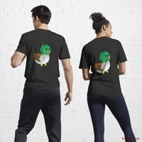 Normal Duck Black Active T-Shirt (Back printed)