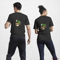 Kamikaze Duck Black Active T-Shirt (Back printed)