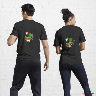 Kamikaze Duck Black Active T-Shirt (Back printed) image