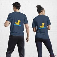 Plastic Duck Navy Active T-Shirt (Back printed)