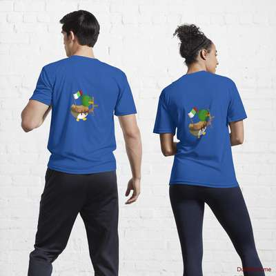 Kamikaze Duck Royal Blue Active T-Shirt (Back printed) image