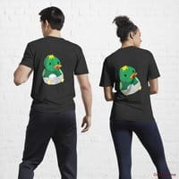 Baby duck Black Active T-Shirt (Back printed)
