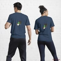 Prof Duck Navy Active T-Shirt (Back printed)