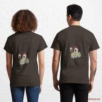 Ghost Duck (fogless) Brown Classic T-Shirt (Back printed)