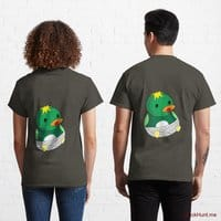 Baby duck Army Classic T-Shirt (Back printed)