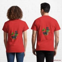 Golden Duck Red Classic T-Shirt (Back printed)