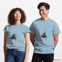 Dead DuckHunt Boss (smokeless) Light Blue Classic T-Shirt (Front printed)
