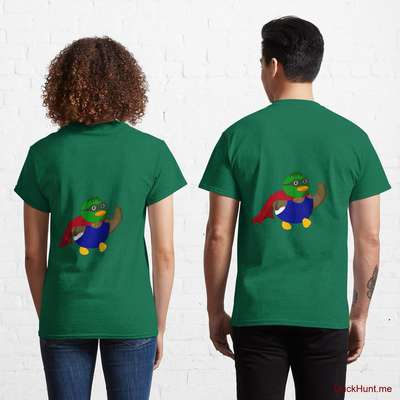 Alive Boss Duck Green Classic T-Shirt (Back printed) image