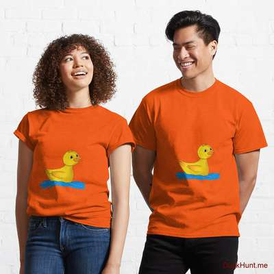 Plastic Duck Orange Classic T-Shirt (Front printed) image
