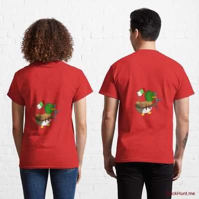 Kamikaze Duck Red Classic T-Shirt (Back printed) image