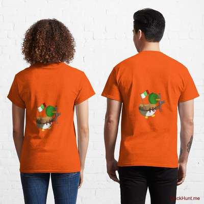 Kamikaze Duck Orange Classic T-Shirt (Back printed) image