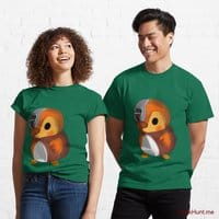 Mechanical Duck Green Classic T-Shirt (Front printed)