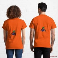 Dead DuckHunt Boss (smokeless) Orange Classic T-Shirt (Back printed)