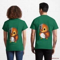 Mechanical Duck Green Classic T-Shirt (Back printed)