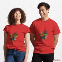 Golden Duck Red Classic T-Shirt (Front printed)