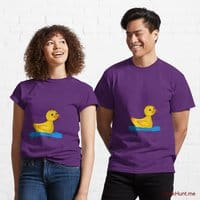 Plastic Duck Purple Classic T-Shirt (Front printed)