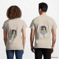 Ghost Duck (foggy) Creme Classic T-Shirt (Back printed)