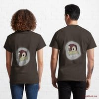 Ghost Duck (foggy) Brown Classic T-Shirt (Back printed)