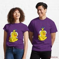 Royal Duck Purple Classic T-Shirt (Front printed)