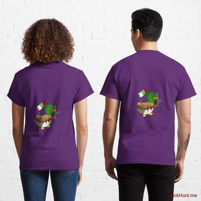 Kamikaze Duck Purple Classic T-Shirt (Back printed) image