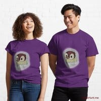 Ghost Duck (foggy) Purple Classic T-Shirt (Front printed)