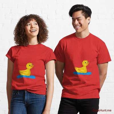 Plastic Duck Red Classic T-Shirt (Front printed) image