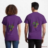 Golden Duck Purple Classic T-Shirt (Back printed)