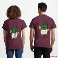Super duck Dark Red Classic T-Shirt (Back printed)