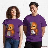 Mechanical Duck Purple Classic T-Shirt (Front printed)