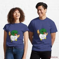 Super duck Blue Classic T-Shirt (Front printed)