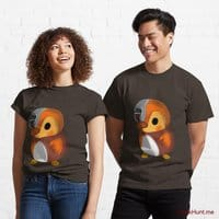 Mechanical Duck Brown Classic T-Shirt (Front printed)