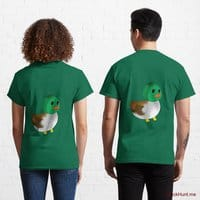 Normal Duck Green Classic T-Shirt (Back printed)