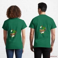 Kamikaze Duck Green Classic T-Shirt (Back printed)