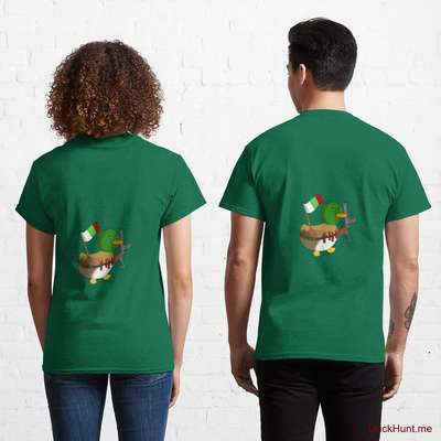 Kamikaze Duck Green Classic T-Shirt (Back printed) image