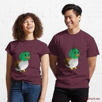 Normal Duck Dark Red Classic T-Shirt (Front printed)