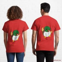Super duck Red Classic T-Shirt (Back printed)