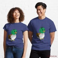 Normal Duck Blue Classic T-Shirt (Front printed)