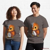 Mechanical Duck Dark Grey Classic T-Shirt (Front printed)