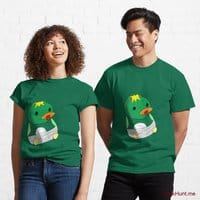 Baby duck Green Classic T-Shirt (Front printed)