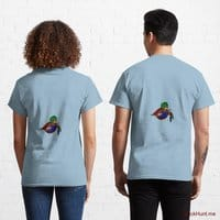Dead DuckHunt Boss (smokeless) Light Blue Classic T-Shirt (Back printed)