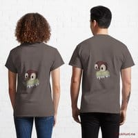 Ghost Duck (fogless) Dark Grey Classic T-Shirt (Back printed)