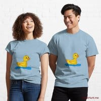 Plastic Duck Light Blue Classic T-Shirt (Front printed)