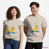 Plastic Duck Creme Classic T-Shirt (Front printed)