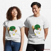 Super duck White Classic T-Shirt (Front printed)