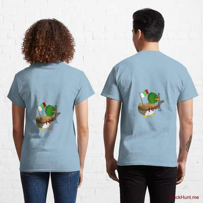 Kamikaze Duck Light Blue Classic T-Shirt (Back printed) image