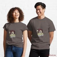 Ghost Duck (fogless) Dark Grey Classic T-Shirt (Front printed)