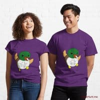 Super duck Purple Classic T-Shirt (Front printed)