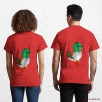 Normal Duck Red Classic T-Shirt (Back printed)